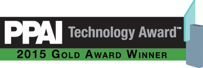 PPAI Technology Award 2015 Gold Award Winner